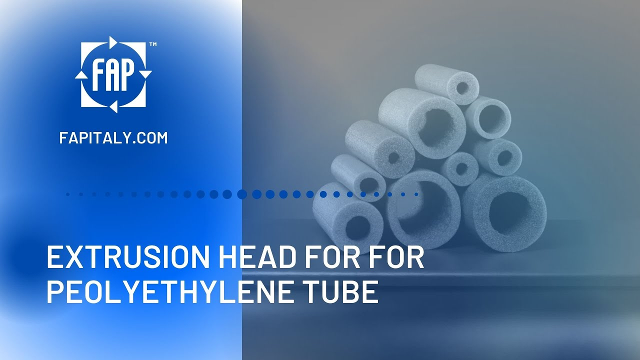 Extrusion line for tube / branch production in polyethylene