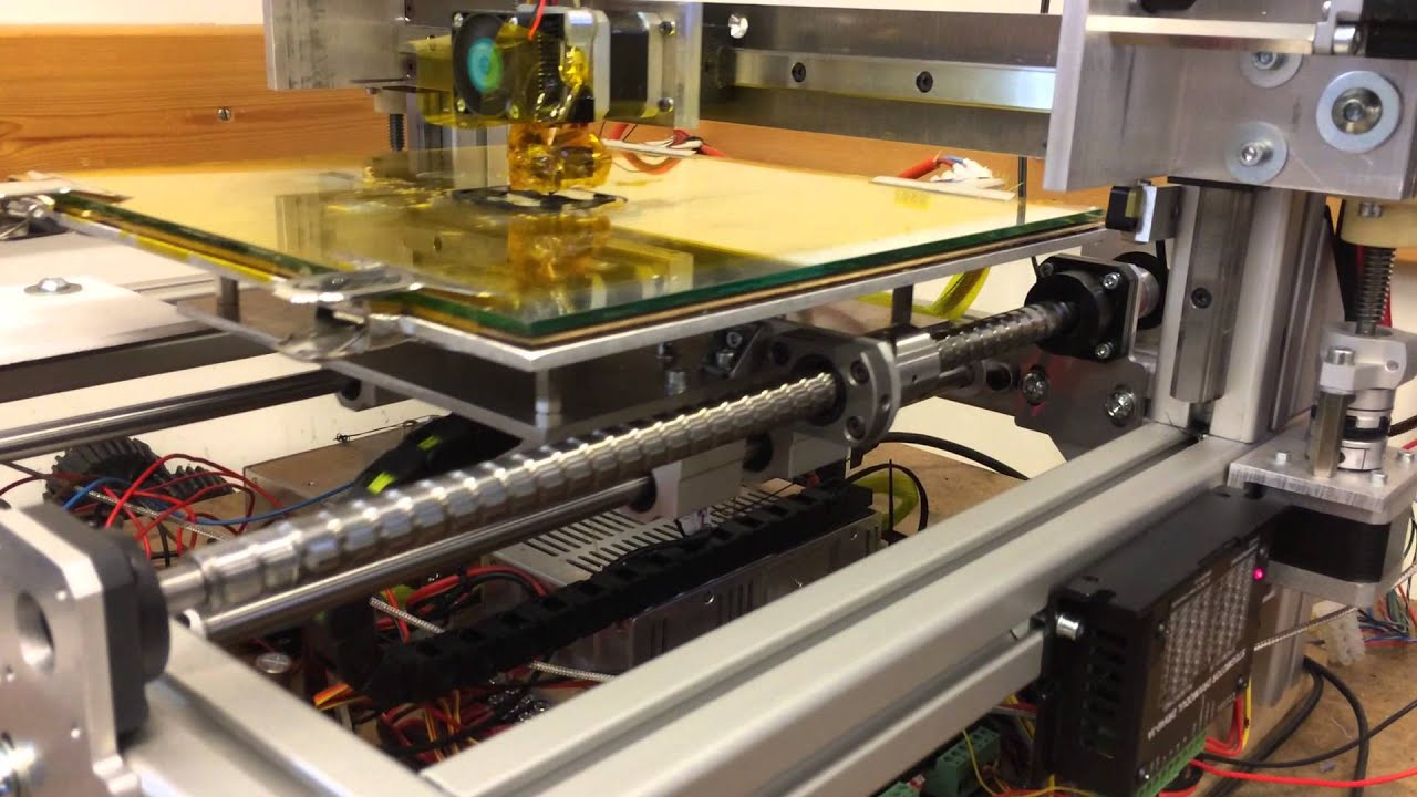 DIY 3D printer with ballscrews