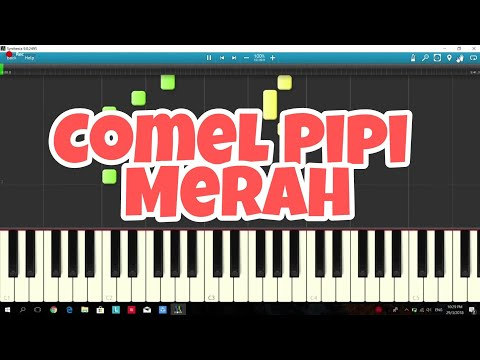 Comel Pipi Merah - Piano Instrumental Cover with Tutorial
