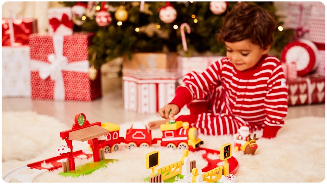 Happyland Christmas Motion Train Set 2 Years Early Learning