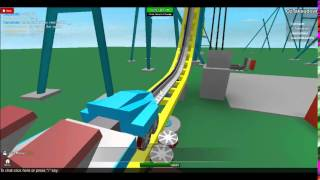 Roller Coaster DIVE on Roblox!