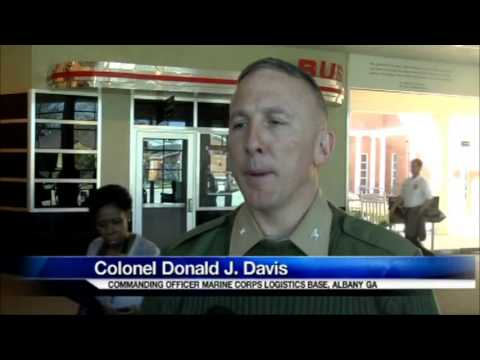 MCLB Albany Marines visit the Civil Rights Institute