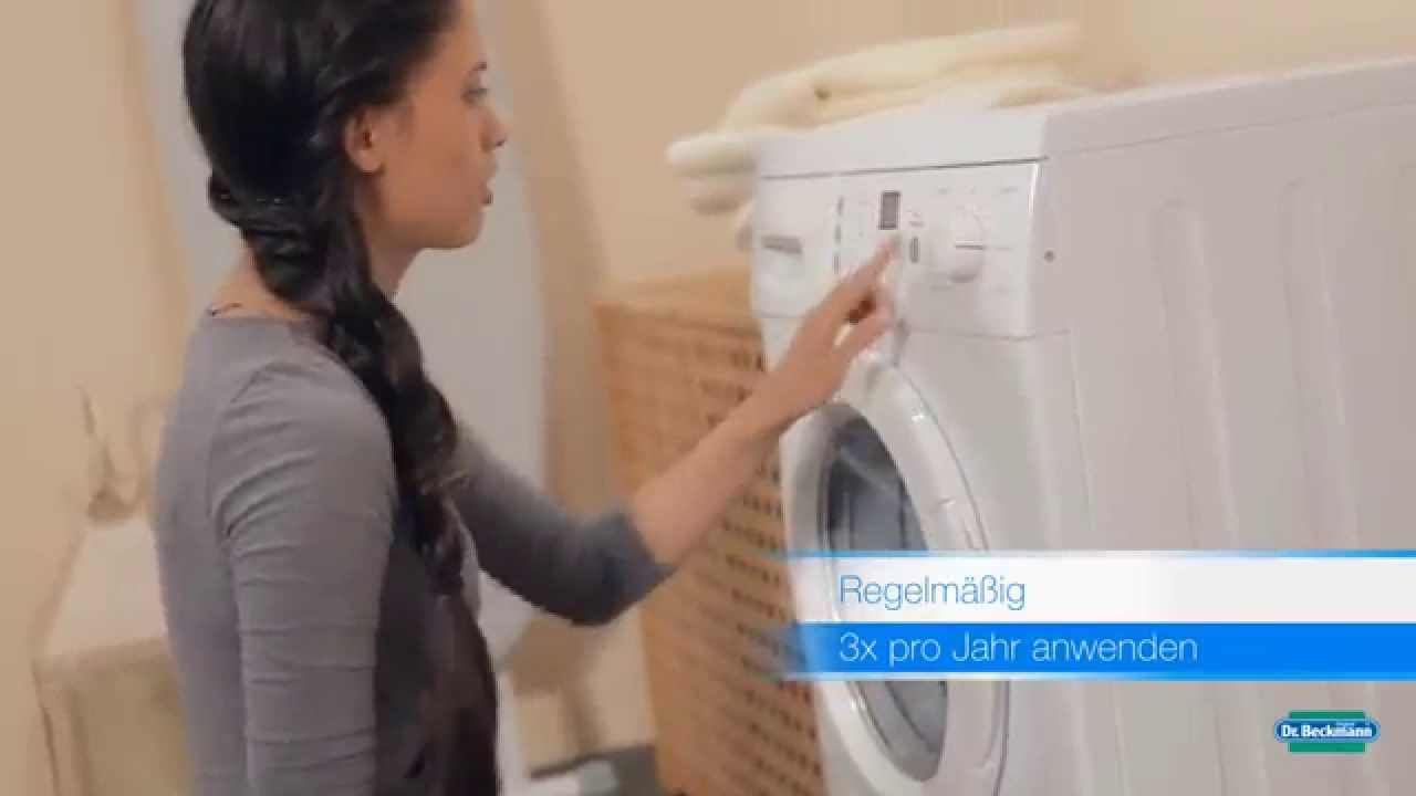 dr beckmann waschmaschinen pflege reiniger produktfilm youtube. Black Bedroom Furniture Sets. Home Design Ideas