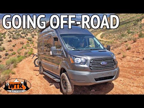 4x4 Ford Transit Camper Van at Toquerville Falls | Van Life S2:E11