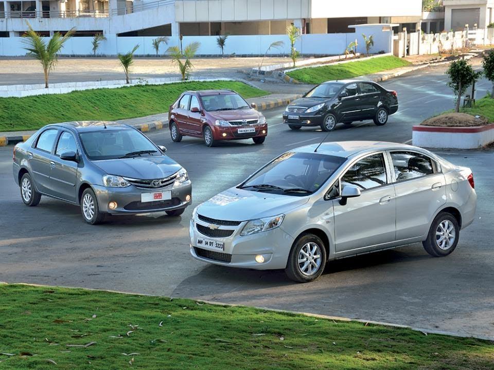 Chevrolet Sail Vs Toyota Etios Vs Tata Manza Vs Mahindra Verito    Comparison Test   Autocar India