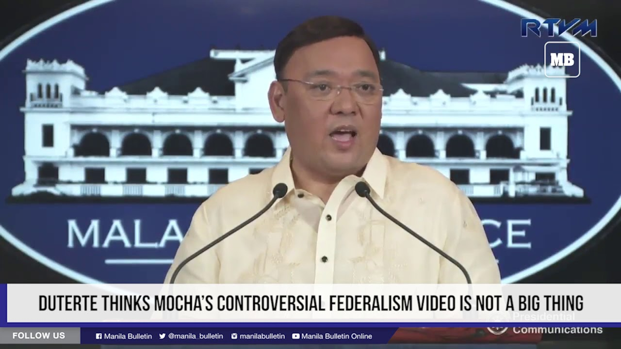 Duterte thinks Mocha's controversial federalism video is not a big thing