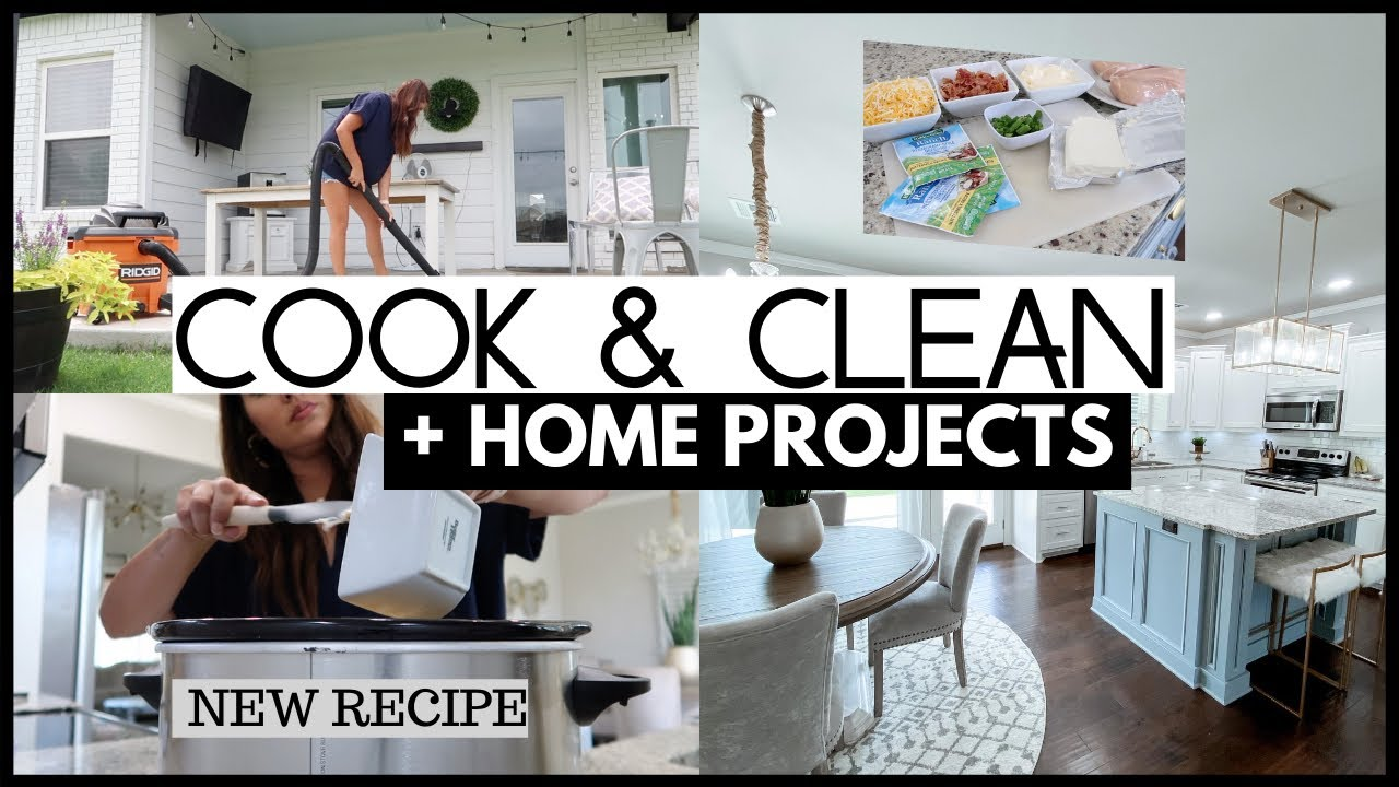 COOK & CLEAN WITH ME | HOME PROJECTS DIY | SATISFYING CLEANING MOTIVATION