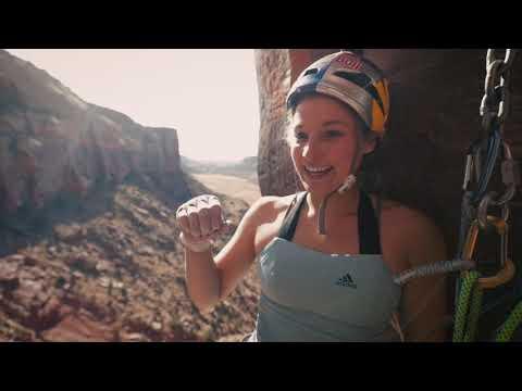 Sasha DiGiulian crack climbing tutorial in Indian Creek