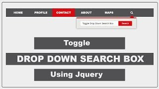 How to create the Search Box with Navigation Bar Using HTML and CSS - Simple Drop Down Search box