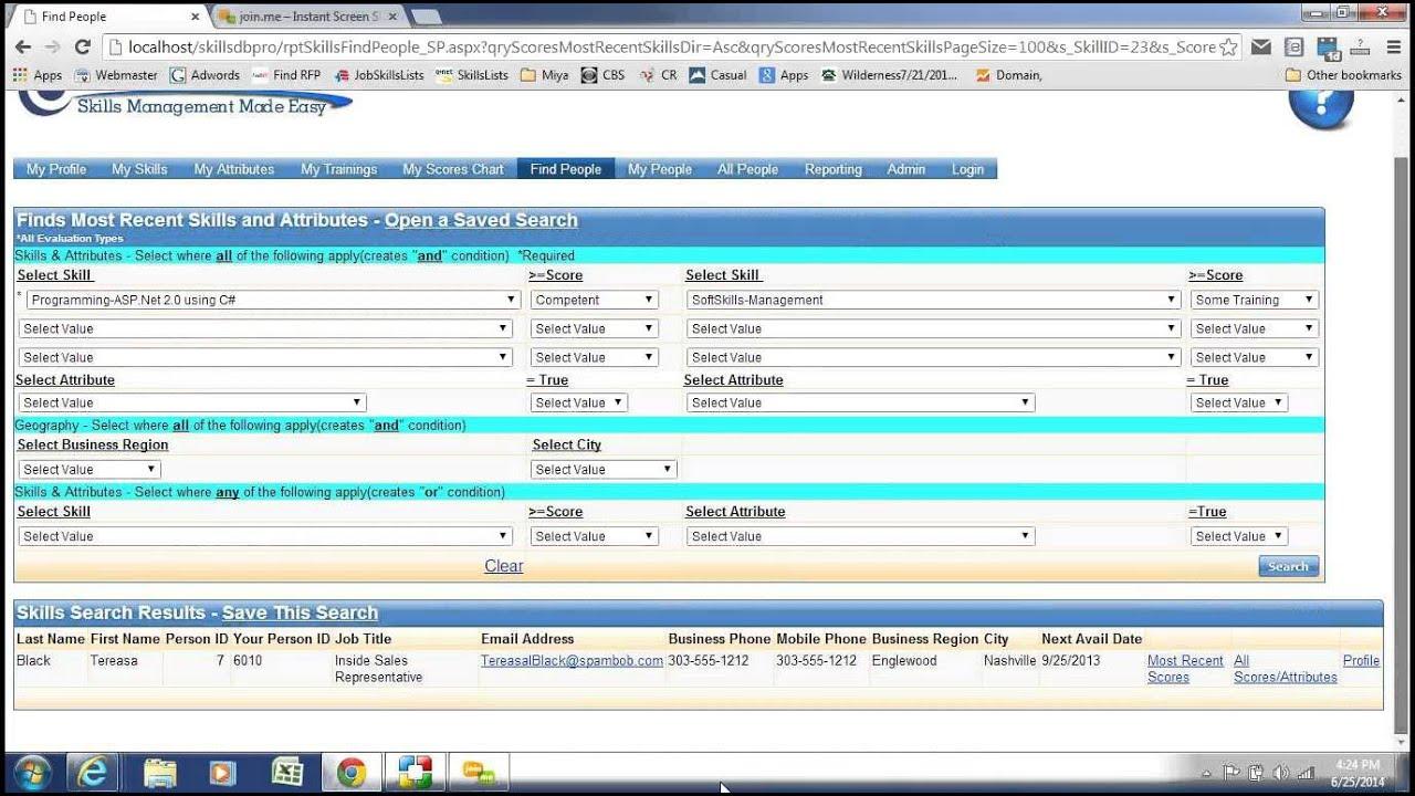 Skills DB Pro Employee Skills Inventory Management