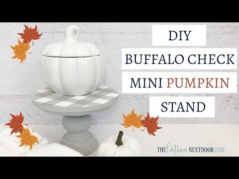 Mini Buffalo Check Stand   Fall Farmhouse DIY   Farmhouse Fall Decor