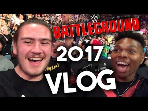 WWE Battleground 2017 Reaction & Vlog ROW 4 (Philadelphia, PA) | Brandon Hodge Vlog #62