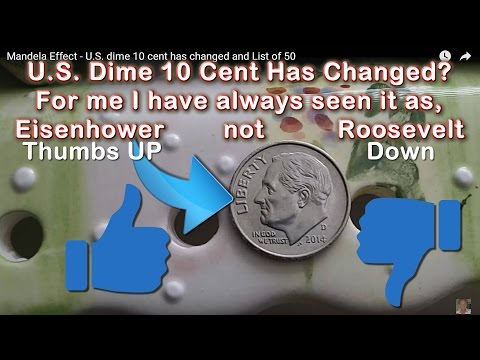 Mandela Effect - U.S. Dime 10 Cent Has Changed and List of 50