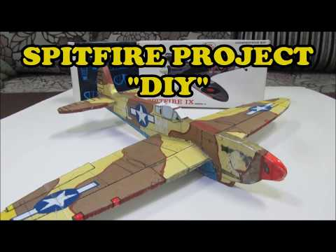 How to Make Spitfire Glider From Foam Board - DIY Project