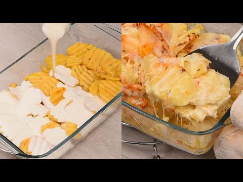 Potatoes with cream and cheese the best recipe for the your amazing dinner