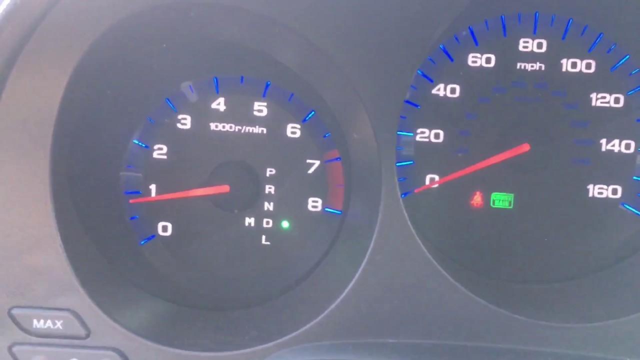 06 Acura Tl Green Light Blinking
