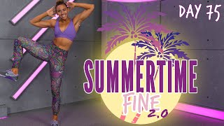 50 Minute Glutes and Abs Bootcamp Workout | Summertime Fine 2.0 - Day 75