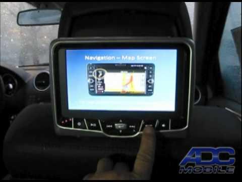 2010 Mercedes ML-350: Rosen AV-7700 Headrest DVD - YouTube