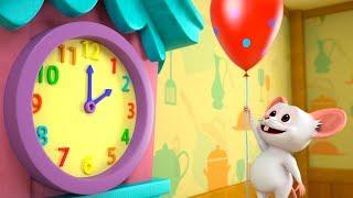 Hickory Dickory Dock   Kindergarten Nursery Rhymes for Children   Cartoons by Little Treehouse
