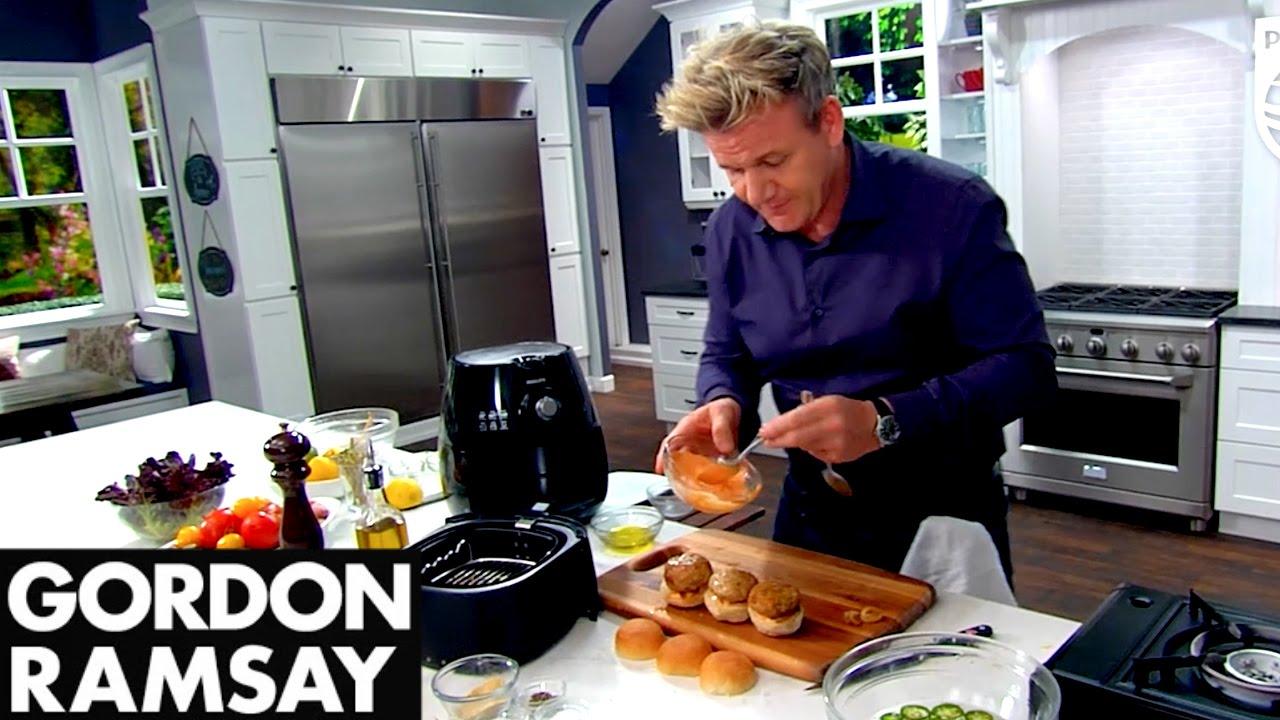 Philips Airfryer Gordon Ramsay Turkey Sliders Recipe Youtube