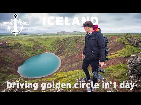 RENTING A CAR IN ICELAND - Golden Circle in 1 DAY - Gullfoss Geysir Crater | Barbster360 Travel Vlog