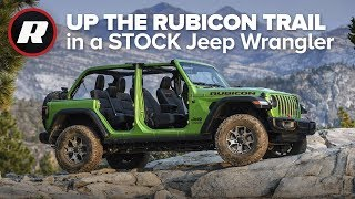 Driving A Stock Jeep Wrangler Up The Rubicon Trail
