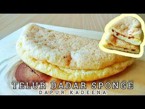 Membuat Telur Dadar Sponge