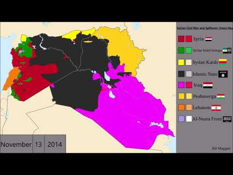 Syrian Civil War and Spillover: Every Day
