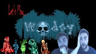 WEIRD HORROR GAME! (Woodsy By Braindeer games)