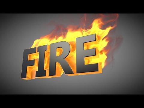 Cinema 4D Fire Text Tutorial - Turbulence FD