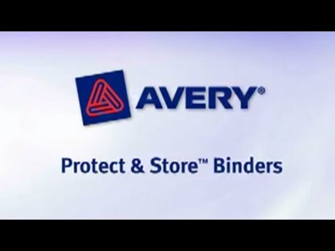 AVERY Protect & Store View Binder W/EZ-Turn Ring, 11 X 8-1/2, 1