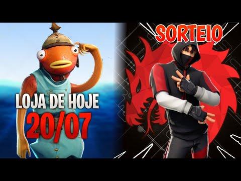 Fortnite Loja de hoje 20/07 SKINS NOVAS + É HOJE SORTEIO SKIN IKONIK!!