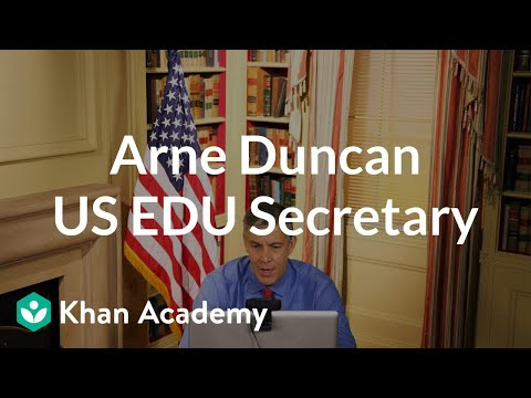 Sal Khan talks to Arne Duncan