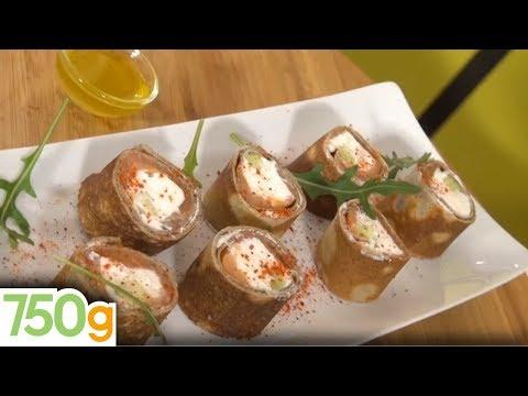 recette-de-makis-de-crêpes-au-saumon-et-au-chèvre---750g