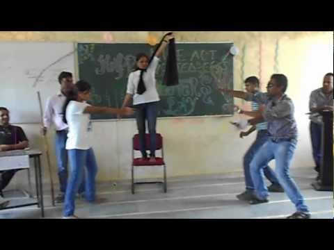 Mime Act on Eve Teasers - Barkatullah University,Pharmacy(UTD) Bhopal drama