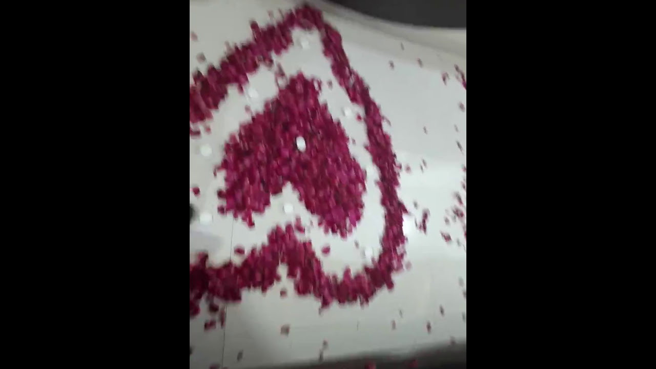Valentines Day Special Room Decoration With Candles Flowers