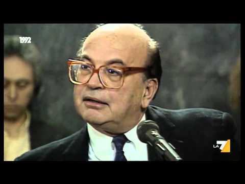 L'interrogatorio pubblico di Di Pietro a Bettino Craxi nel processo Cusani