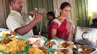 Hyderabad Couple Selling Best Street Food | Chicken Pulao,Chicken,Boti Rice @ 60 Rs Only