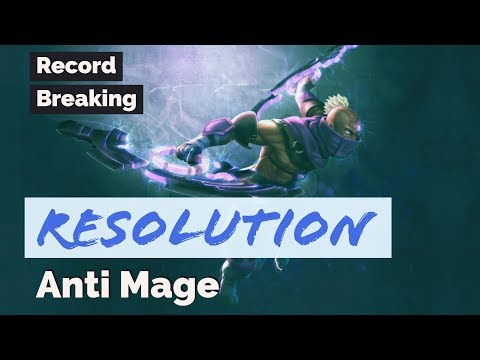Resolution Anti Mage RECORD BREAKING New 7.07b