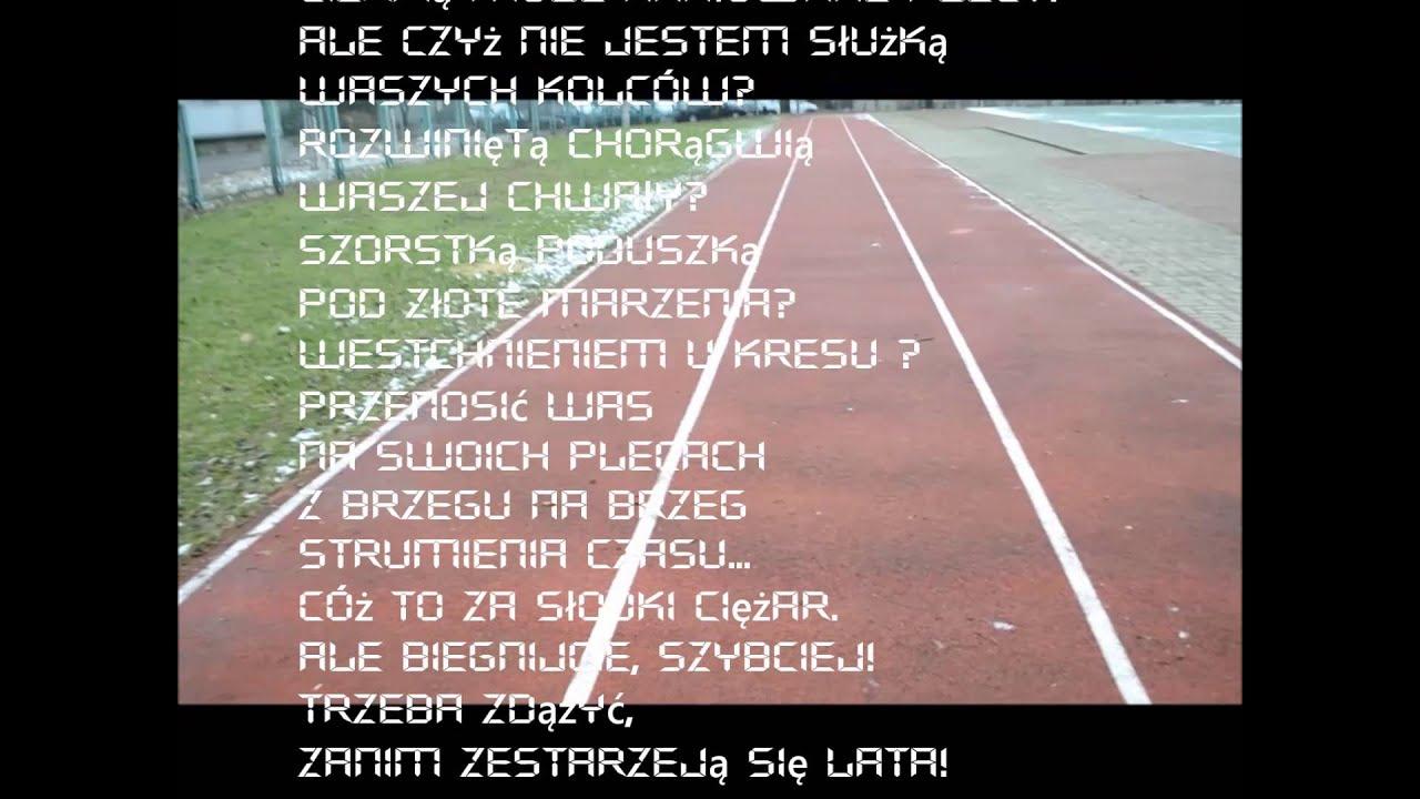 Wiersz Mariana Grześczaka Szepty Bieżni Burzawuchupl