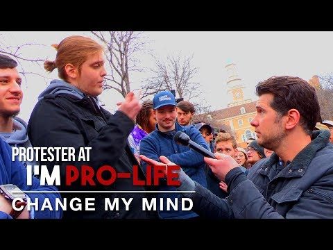 Pro-Abortion SJW LOSES IT ON CROWDER! | Change My Mind