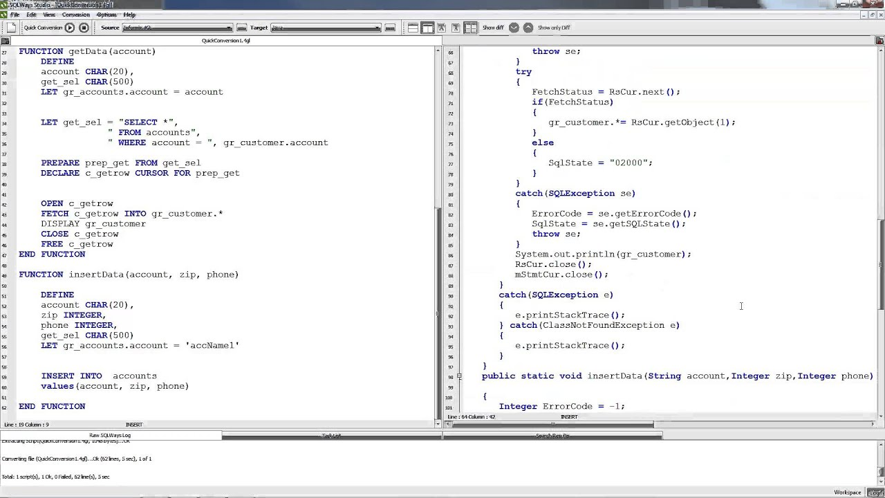 Informix 4GL to Java Migration...