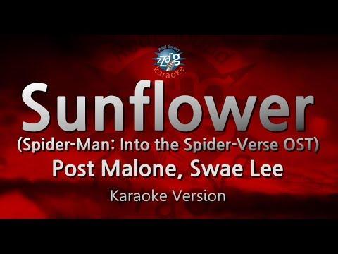 Post Malone, Swae Lee-Sunflower (Spider-Man OST) (Melody) (Karaoke Version) [ZZang KARAOKE]