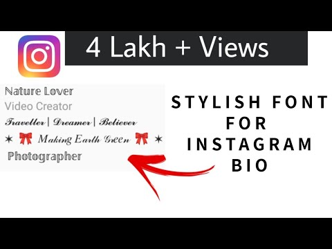 How to Write Bio On Instagram or Facebook In Stylish Fonts | By Trending Stuff