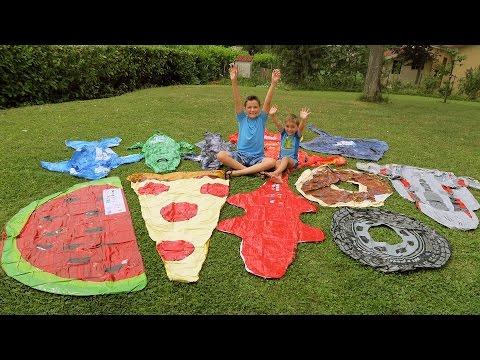Colis surprise pour la piscine et cascade de jouets for Swan et neo piscine