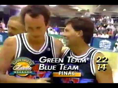 """McEnroe in Basketball """" Kenny Rogers Classic Weekend """" 1988 Highlights"""