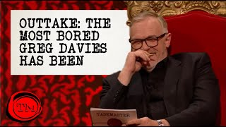 Taskmaster greg davies doesn't hold back in his withering contempt of the contestant's efforts, declaring himself to be most bored out all 10 series.-...
