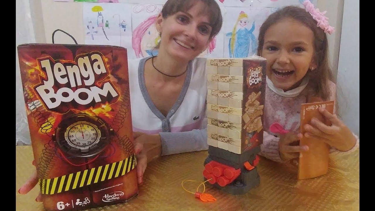 Jenga boom oyuncak kutusu açtık , eğlenceli çocuk videosu, toys unboxing