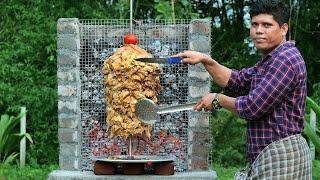 CHICKEN SHAWARMA  Chicken Shawarma Recipe  How To Make Shawarma  Village Food