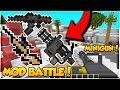 GUN MOD 2V2! GUN Minecraft MOD BATTLE! - Minecraft Mods (Flan's Mod) w/ PrestonPlayz, Kobe & Brawl